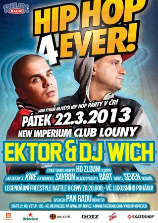 HipHop4ever ektor dj witch plakat